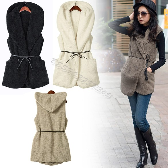 659db8396a4 Free Shipping Women s Fur Vest Fashion Long Fur Outerwear Large Size  Sleeveless Faux Fur Coat Lady