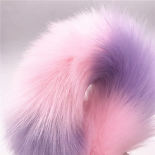 2 Pcs/Lot Vibrator And Long 40cm Pink Interval Purple Fox Tail Anal Plug Sex Toy Anal Adult Butt Plug Sex Toys for Woman And Men