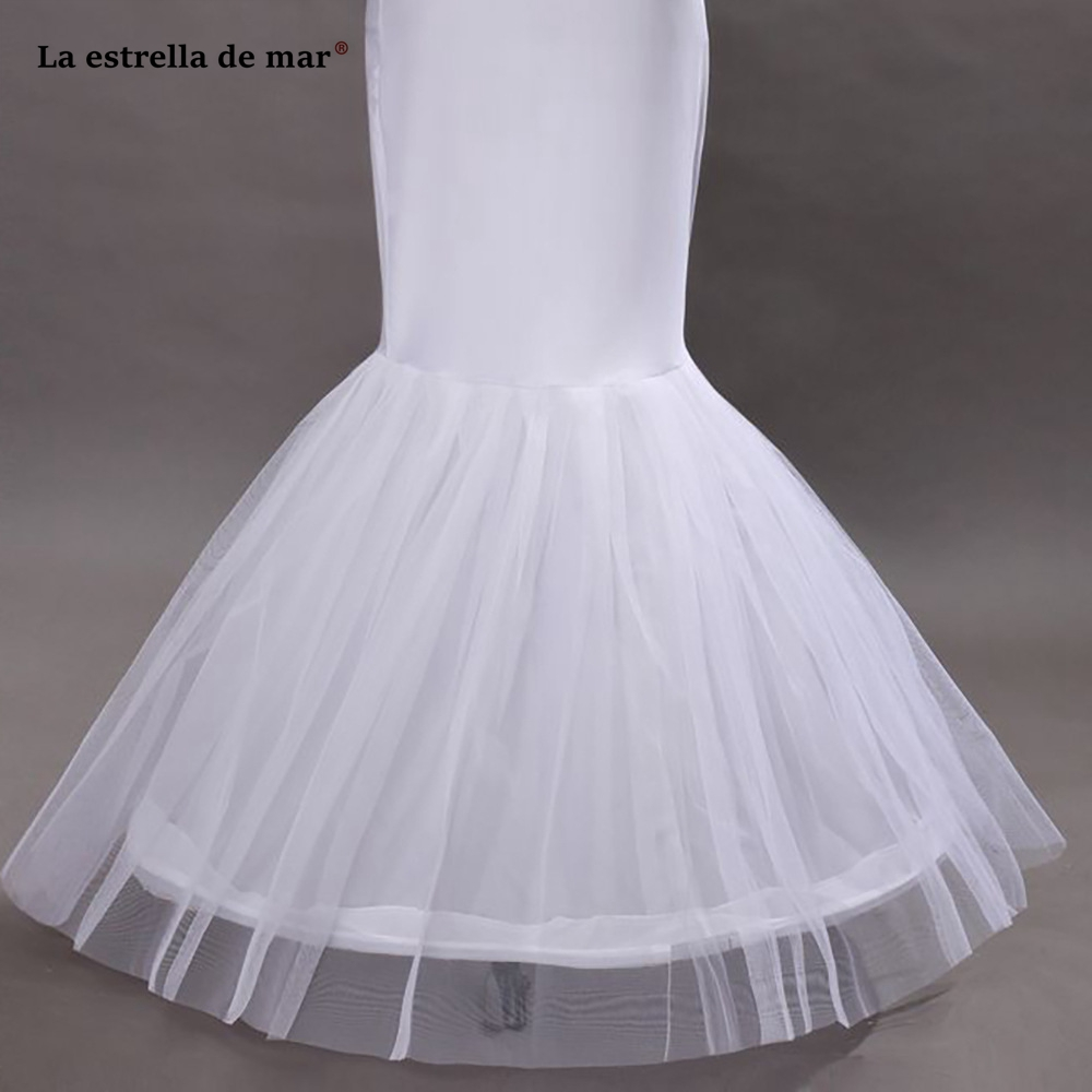 Enaguas Para El Vestido De Boda 2019 New Tulle Lace Sexy White Mermaid Petticoat Long Real Photo Bridal Underskirt Petticoats Wedding Accessories
