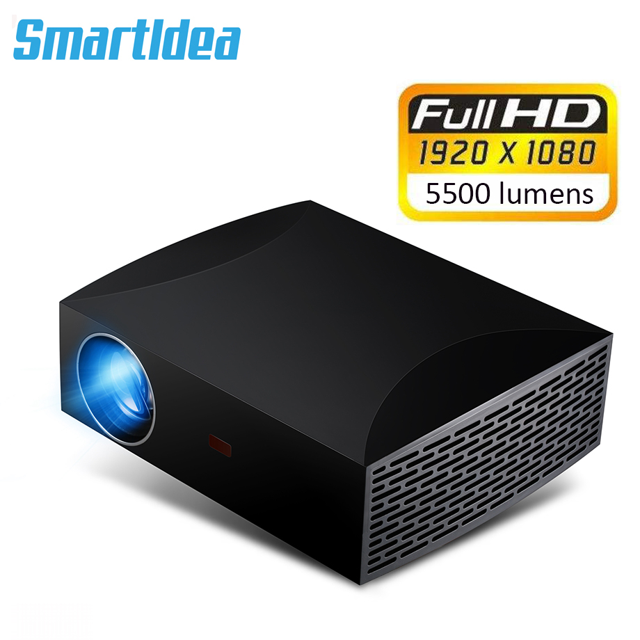 Smartldea F30 Full HD Projector Native 1920x1080P LED Home Cinema Projector 5500lumens 3D Multimedia Entertainment Beamer