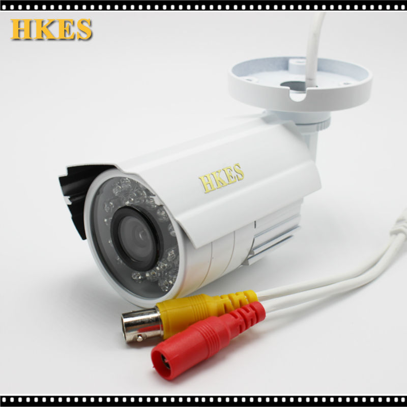 HKES Free Shipping HD 1920*1080P IR Night vision Bullet AHD Camera Outdoor Security CCTV CAM 2MP free shipping new waterproof ahd 720p bullet metal camera hd 1mp cctv outdoor security 24 ir night vision bnc cable