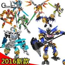 GonLeI marvel Super heroes Biochemical Warrior BionicleMask of Light Bionicle Tahu Ikir Bricks Building Block Toys