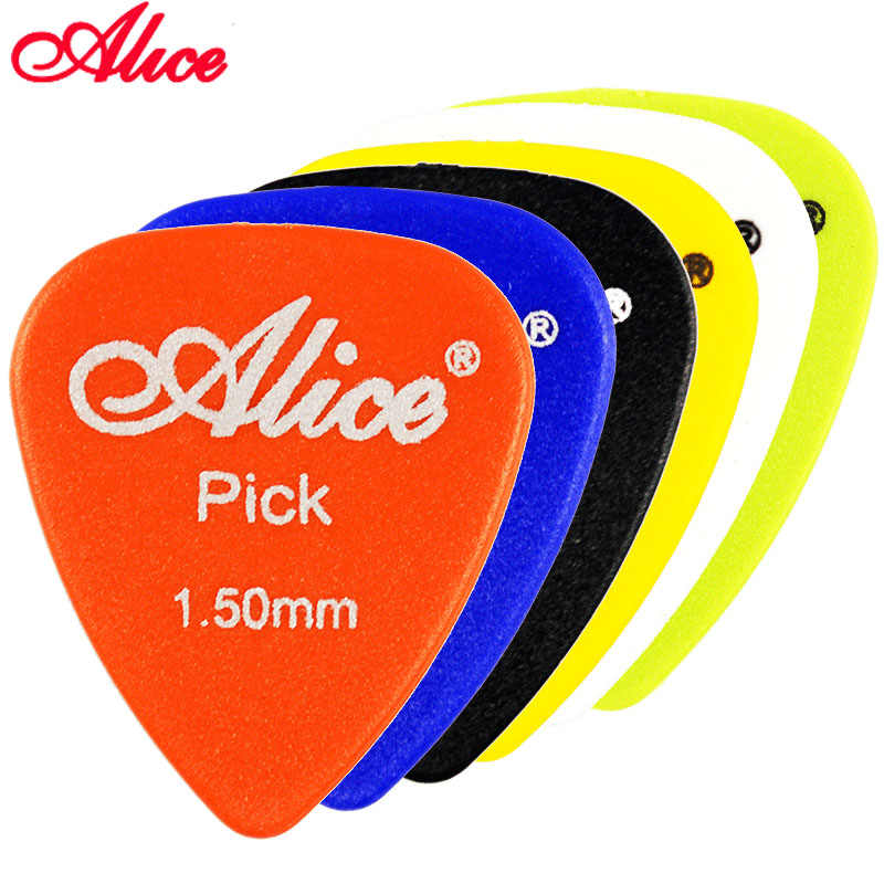 Alice Non-slip ABS Guitar Picks Plectrum Gauge 0.58mm 0.71mm 0.81mm 0.96mm 1.20mm 1.50mm Color Random Guitar Parts Accessories
