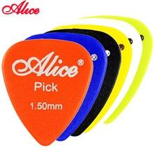 앨리스 미끄럼 방지 abs 기타 픽 plectrum 게이지 0.58mm 0.71mm 0.81mm 0.96mm 1.20mm 1.50mm 색상 무작위 기타 부품 액세서리