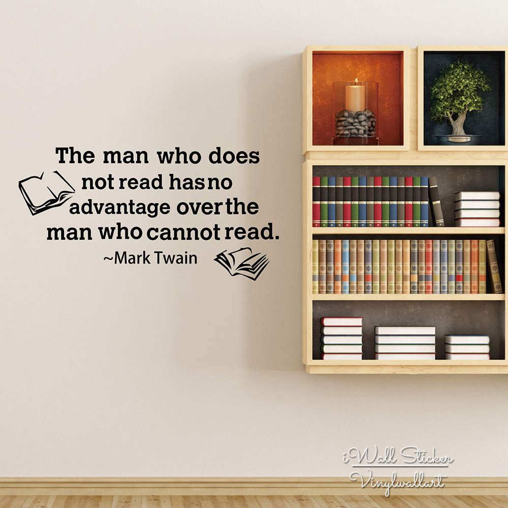 Inspirational Quotes From Books Motivational Quote Wall Sticker Read Books Quotes Wall Decal