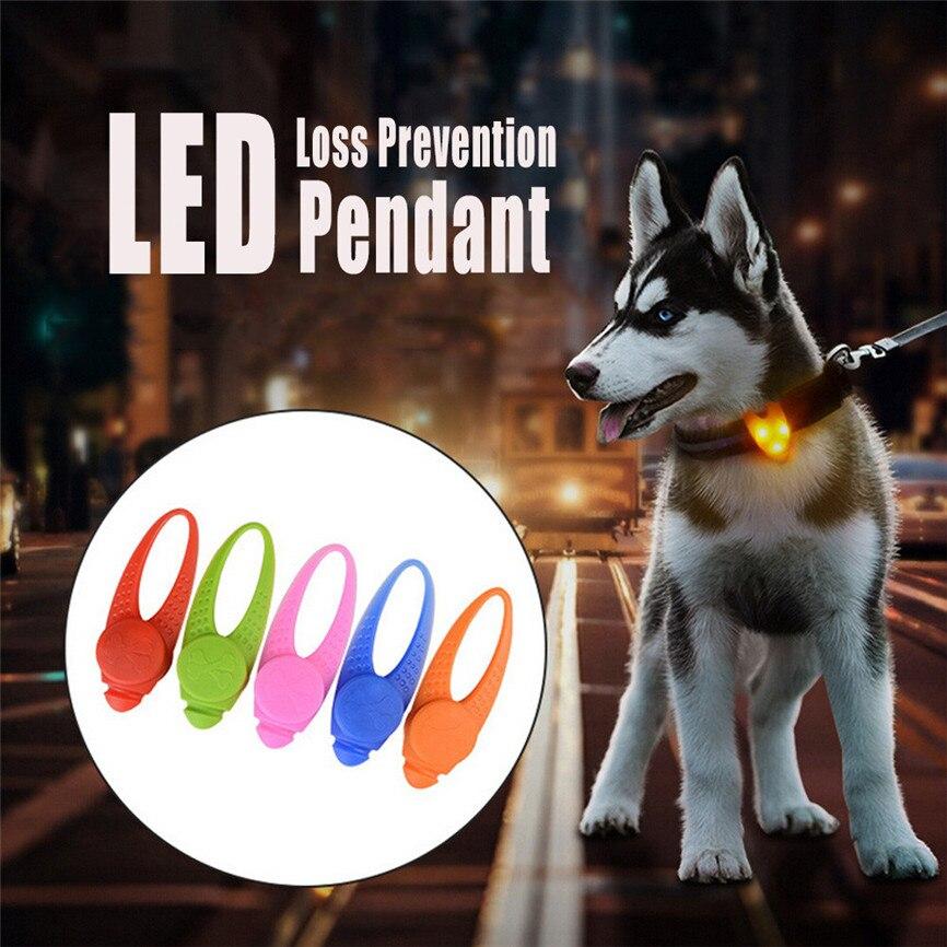 1pcs Pet Led Pendant Safety Flashing Glow Light Blinking Led Collar Pendant For Pet Dog Puppy 8x2.5cm Dropshipping July#5