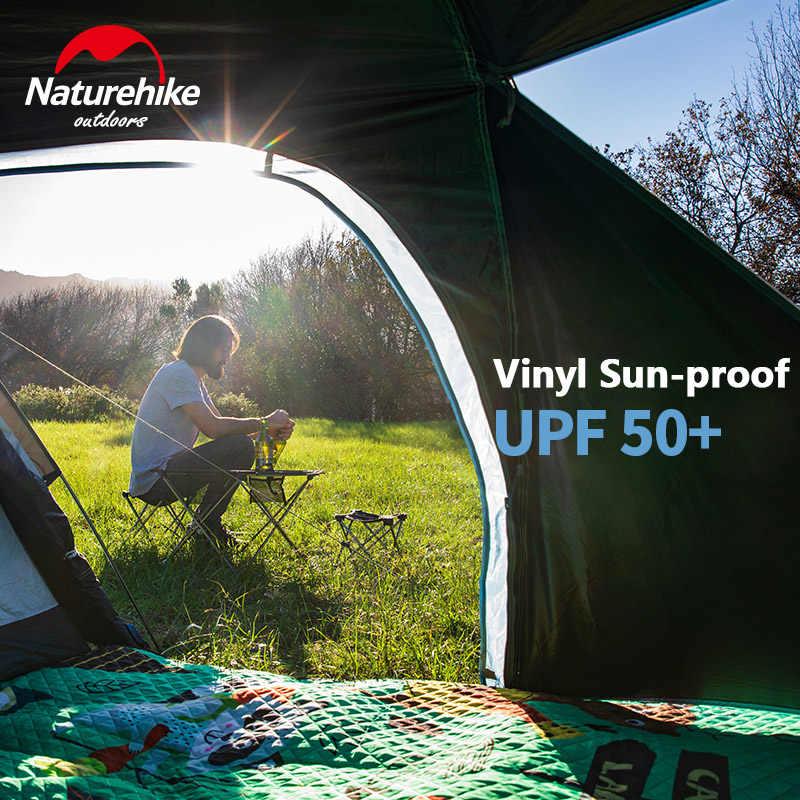 Naturehike في مصنع بيع كبيرة الفضاء خيمة واحدة غرفة قاعة واحدة 3 شخص خيمة في الهواء الطلق التخييم الذاتي القيادة غير نافذ للمطر يندبروف خيمة