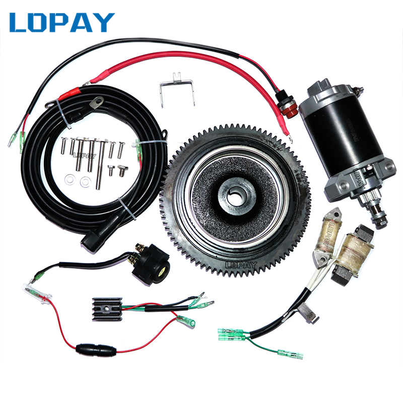 F15 4 Stroke 15HP Outboard Motor Rear Control Change To Electric Start Engine Kit For Yamaha 4 Stroke 15HP