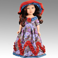 """Pure Handmade RetroStyle Western Doll Clothes for 18"""" American Girl Doll or 45CM Bjd 1/4 Body Doll Girl Toys Dolls Accessories"""