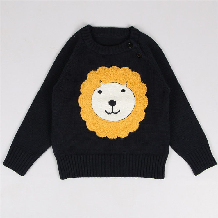 Fashion Cartoon Lion Kids Christmas Sweater Spring Winter Casual ...