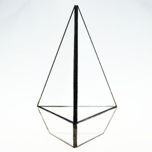 Geometric Three-surface Diamond Glass Geometric Terrarium Tabletop Succulent Plant Terrarium Box Planter Flower Pot