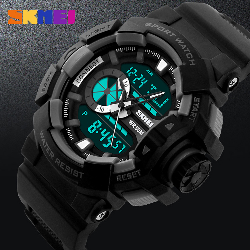 Fashion Watch Men G Style Waterproof LED Sports Military Watches Shock Men's Analog Quartz Digital Watch relogio masculino SKMEI цены