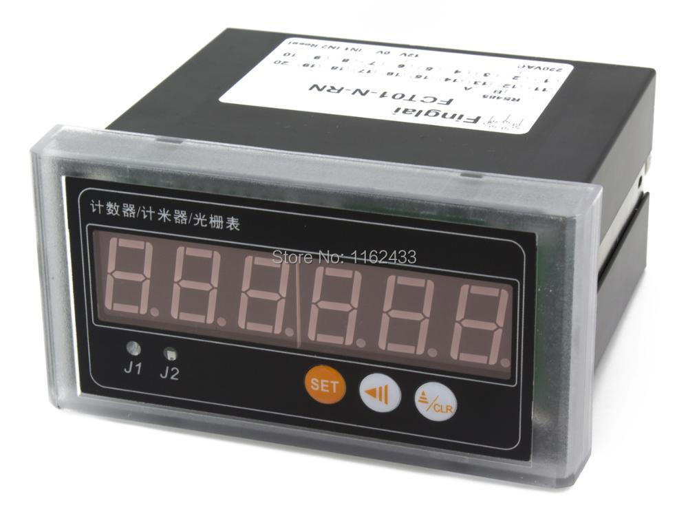 FCT01 digital RS485 modbus interface counter grating meter with contact level voltage NPN sensor input