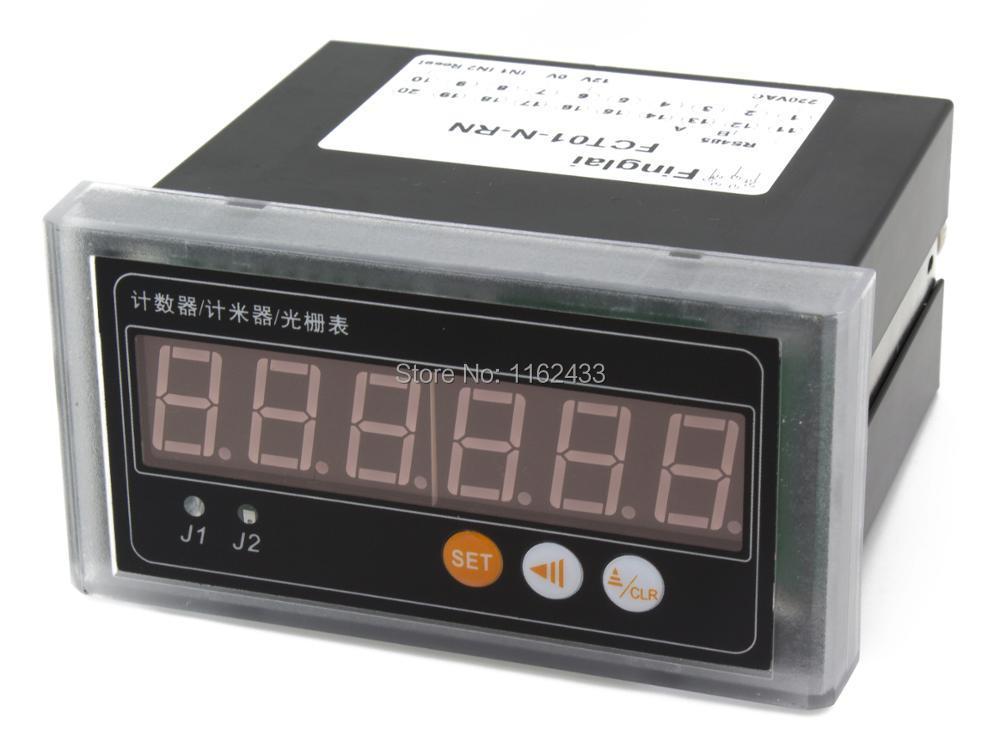 FCT01 compteur de réseau d'interface modbus RS485 numérique avec entrée de capteur de tension de niveau de contact NPN