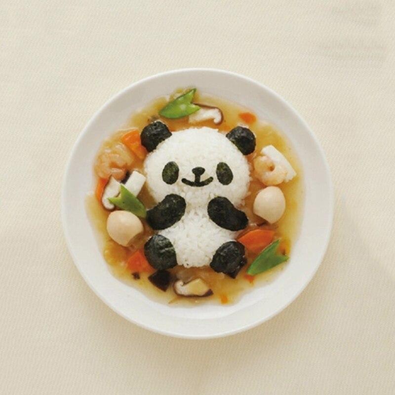 4 шт./компл. мультфильм формочка в виде панды рисовые суши плесень Onigiri формирователь и обжаренные резак для водорослей комплект Кухня пресс-формы для ЕА-4