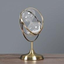 Креативное железное искусство в форме шара, песочное стекло, декоративный стеклянный шар, часовое стекло, ретро орнамент времени, железная работа, подарок, ремесло, аксессуары
