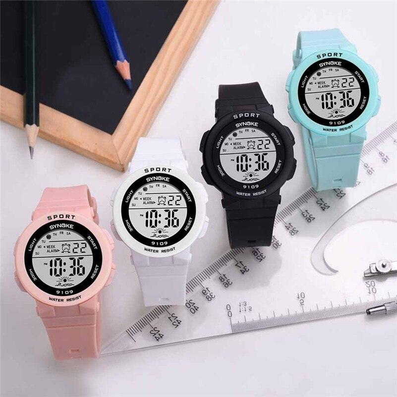 Boys Girls Student Watches Luminous LED Digital Students Watch Fashion Children Alarm Sport Wristwatch Colorful Kid Clock /DD