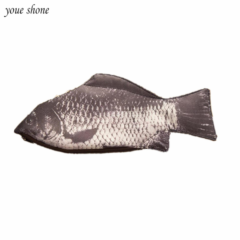 YOUE SHONE 1Pcs/lots Creative pencils personality crucian carp pencils salted fish stationery pouch pencil pocket simulation