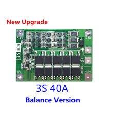 Gelişmiş baskı 3S 40A BMS 11.1V 12.6V 18650 lityum pil koruma levhası ile dengeli sürüm matkap 40A akım