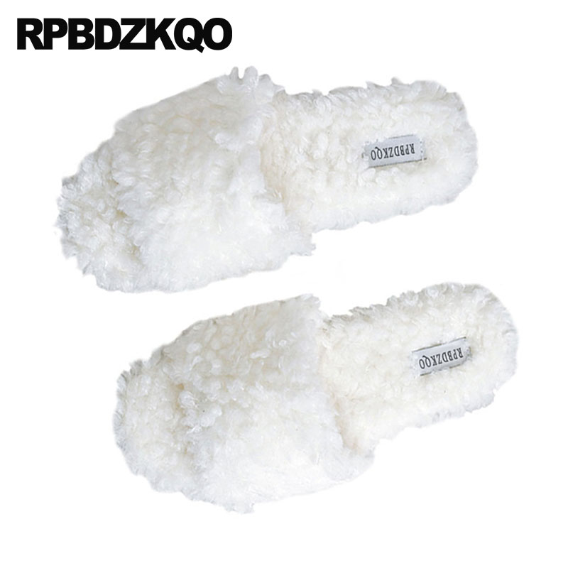 Women/'s Men/'s Home Slingbacks Fur Flat Slippers Warm Winter 5 Colors Korean