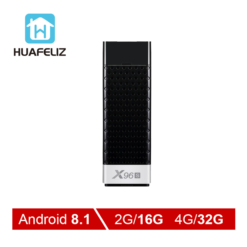 X96S умные Фильмы и ТВ коробка Android 8,1 четырехъядерный Amlogic S905Y2 Wifi 4 ГБ 32 ГБ Bluetooth 4,2 4 к HD Smart tv Stick PK H96 tv Stick