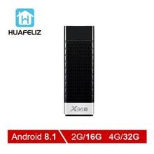 X96S Smart просмотр фильмов и телепередач box Android 8,1 четырехъядерный Amlogic S905Y2 Wi-Fi 4 GB 32 GB Bluetooth 4,2 4 K HD; Smart tv подключение PK H96 ТВ Stick