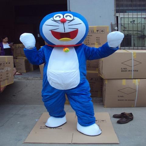 Adult Doraemon Mascot Costume Robocat Mascot Costume Doraemon Fancy Cosplay Dress Costumes Super High Quality