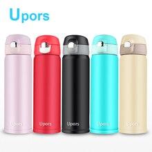 500 ML isolierflaschen 304 Edelstahl Wasserflasche Kugel Vakuum Thermos Cup Dicht Außen Reise-schale Tee becher 5 Farbe