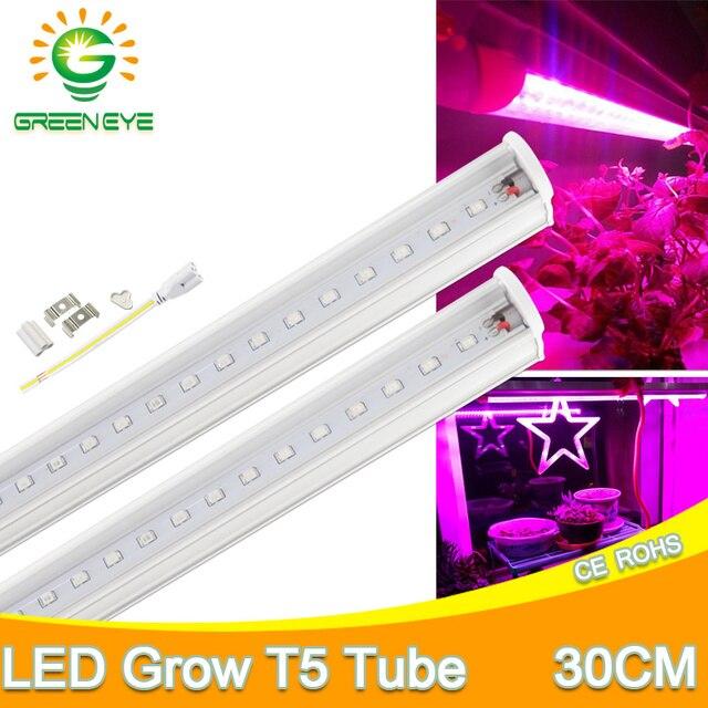 Us 0 92 Led Grow Light Full Spectrum Led T5 Tube 30cm 2835smd Eu Plug Ac 110v 220v Plant Lamp Hydroponic System Led Grow Lamp For Plants In Led