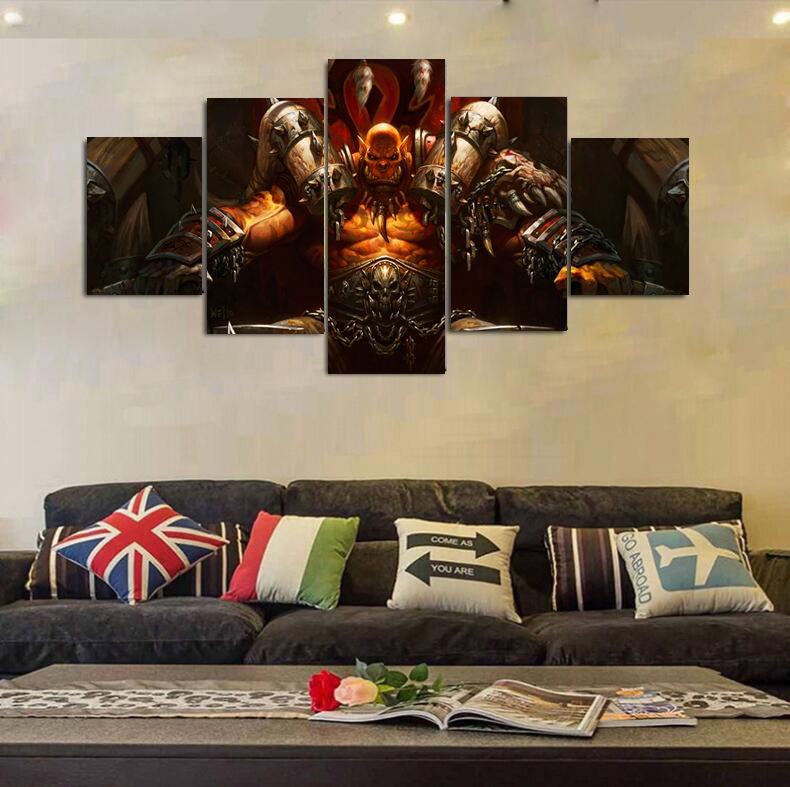 World Of Warcraft Painting Canvas Art Print Poster Wall Pictures For Room Home Decoration