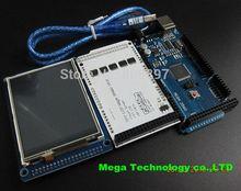 !!! Livraison gratuite! 3.2 «TFT LCD Tactile + TFT 3.2 pouce Bouclier + Mega 2560 R3 NOUVEAU avec câble usb