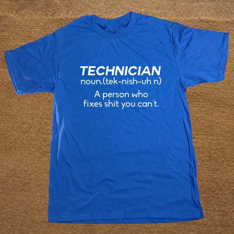 New Summer Style NOUN TECHNICIAN Funny Joke Rude BIRTHDAY Gift Computer Geek T-shirt T Shirt Men Casual Short Sleeve Top Tees 3