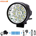 9-T6 LED 16000 lumens HeadLight battery +battery charger headlight Mountain lights floodlight The searchlight Bike lights