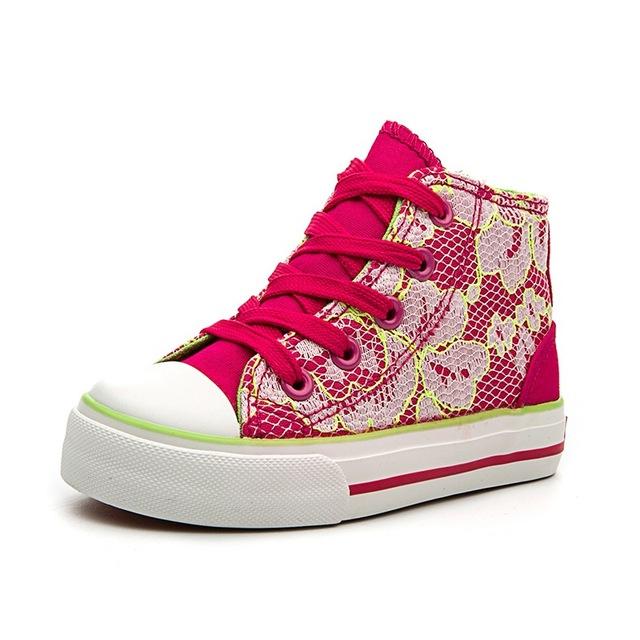 Crianças Skateboarding Shoes High Top Sapatas de Lona Para Meninas E Meninos Crianças Ao Ar Livre Sapatos Wearable B2776