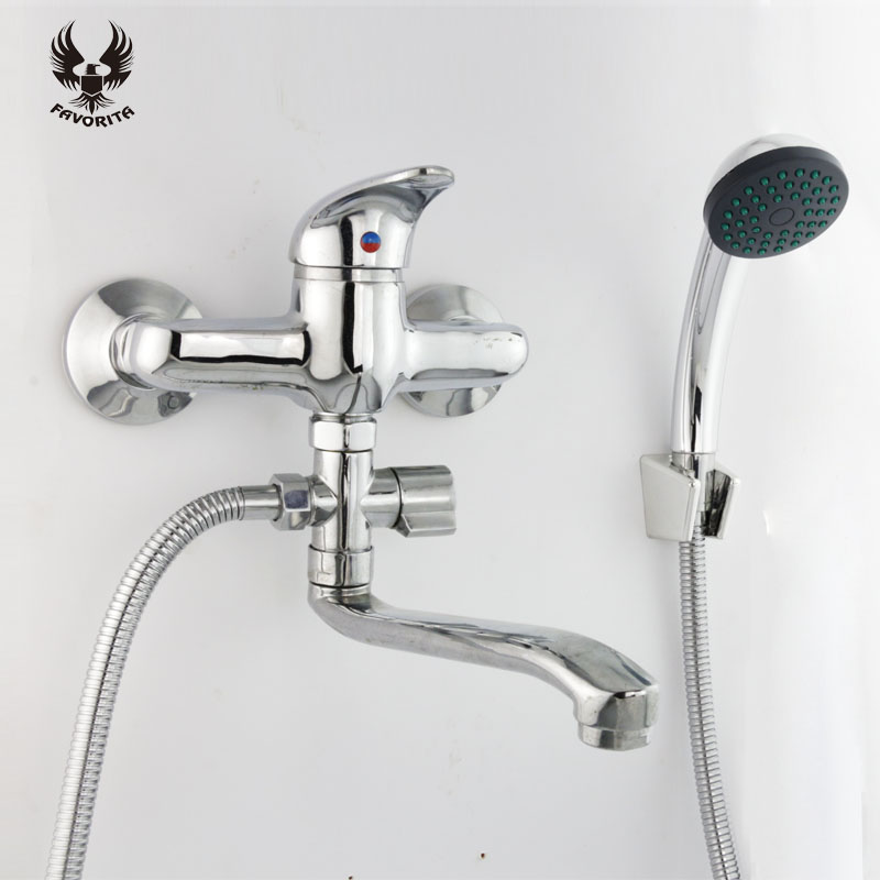 Favorita electroplate Zinc alloy Cold And Hot Water Tap Shower Kit ...