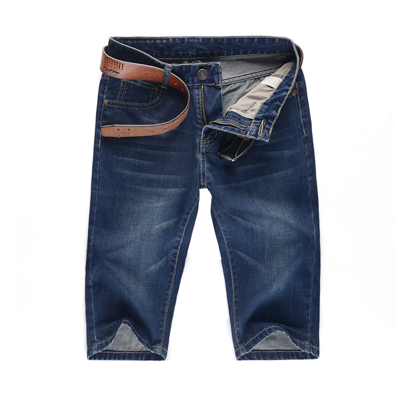 Men's Jeans Hot New Fashion Summer Male Casual Cotton Cargo Shorts Straight Slim Mid Waist Denim Short Pants Trousers Plus Size 2014 new fashion reminisced men vintage trousers casual jeans wash capris pants loose plus size overalls zipper denim jumpsuit