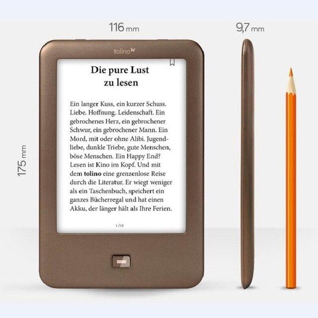 6 ''e-book lector electrónico portátil Tolino Shine 6 pulgadas e-ink tiene luz de fondo 1024x758 4 GB libros Electrónicos Reader