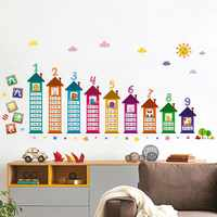 90x60cm DIY children's Stickers on the wall for kids room decoration Decals Multiplication Table Alphabet wall stickers mural