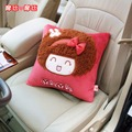red Plush women cartoon cute pillows lumbars seat belt covers gear stick cover handbrake cover mirror cover