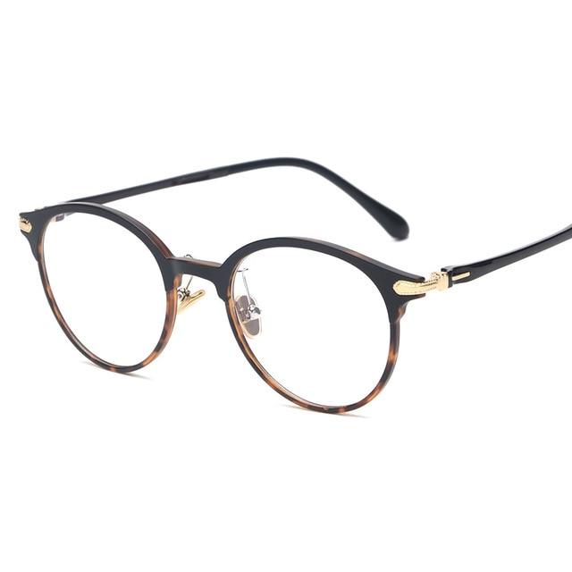 1b818f2685db2 Qualité En Acier En Plastique PEI Lunettes Hommes Ultra-léger Monture de lunettes  Ronde Optique