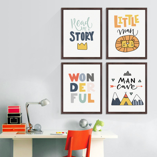 The Painting Color Combination For Baby S Bedroom: Aliexpress.com : Buy Color Cute Children's Cartoon Phrase