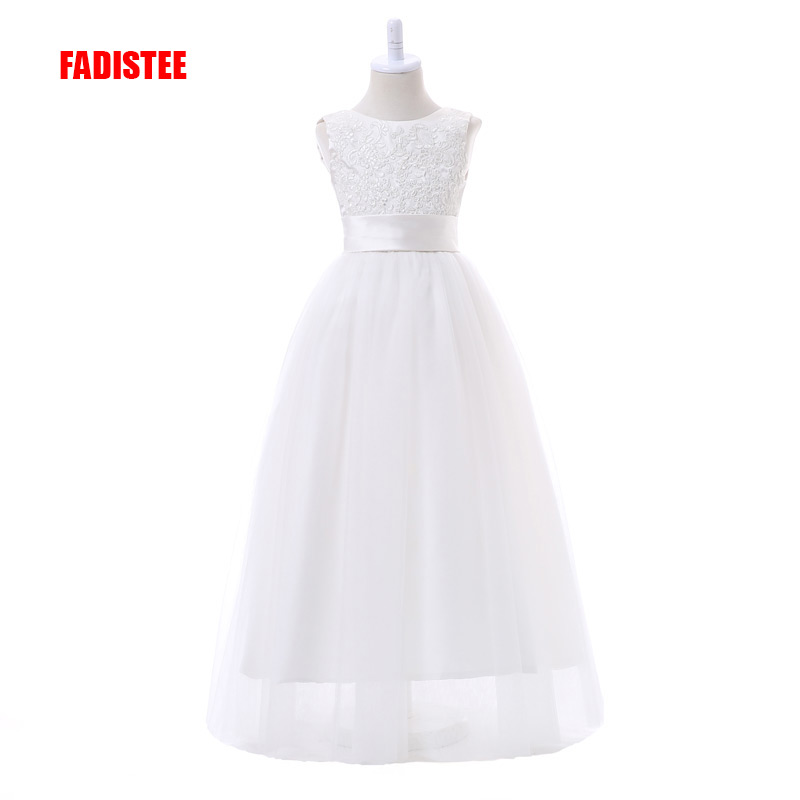 FADISTEE New Arrival  White Tulle  Pretty Flower Girl Dresses Appliques Baby Girl Infant Lace Dress Free Shipping