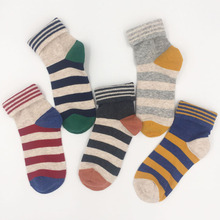 Cotton Woman Striped Sock Candy Color High Quality Compression 2017 Autumn/Winter Fashion Non-slip Brand Funny Socks 5 Pairs/lot