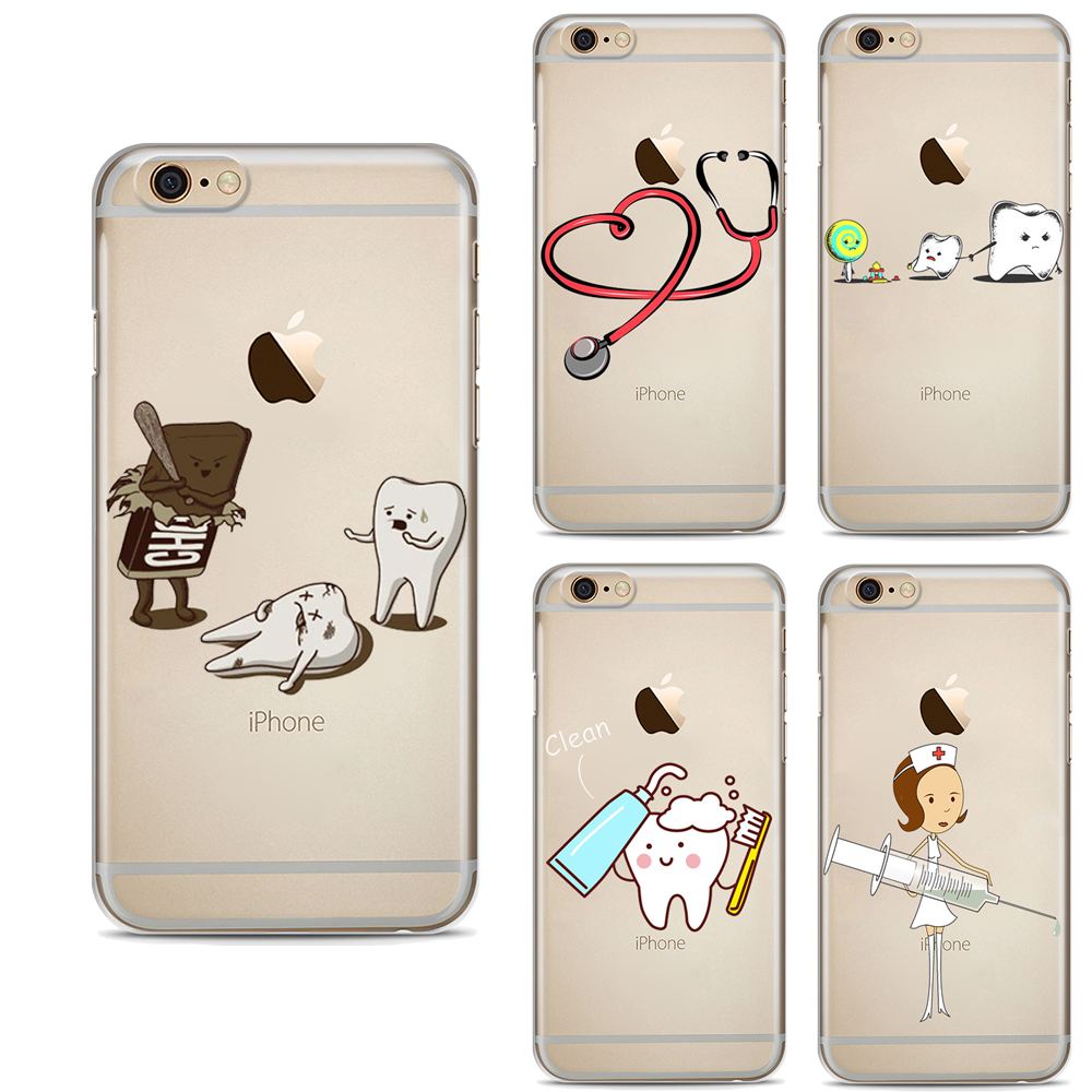 Cellphones & Telecommunications Silicone Case For Iphone Xs Max Xr Cartoon Nurse Doctor Denti Phone Cases Soft Tpu Back Cover For Iphone X 6 6s 7 8 Plus 5 5s Se
