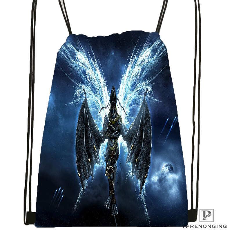 Custom eragon dragon Drawstring Backpack Bag for Man Woman Cute Daypack Kids Satchel Black Back 31x40cm