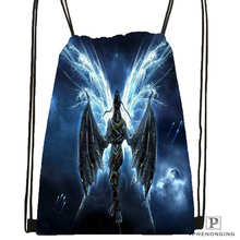 Custom eragon-dragon-Drawstring Backpack Bag for Man Woman Cute Daypack Kids Satchel (Black Back) 31x40cm#20180611-03-155