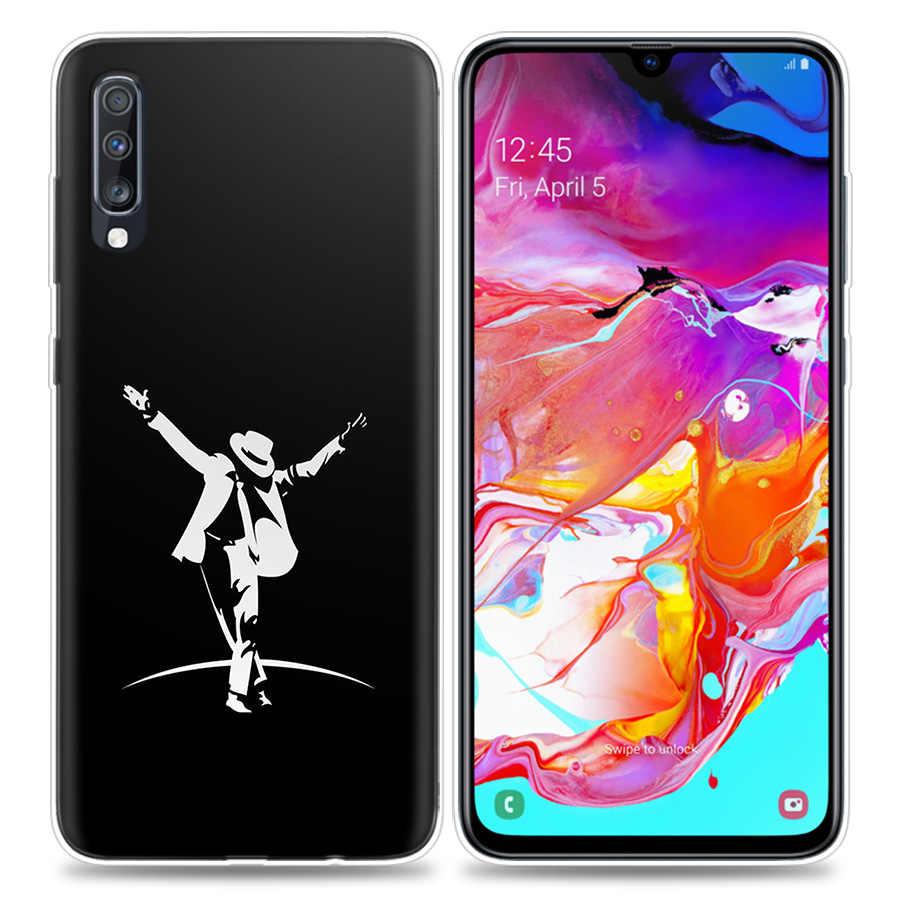 Bao Ốp Lưng dành cho Samsung Galaxy Samsung Galaxy Điện Thoại Di Động A50 A70 A30 A20 J4 J6 J8 A6 A8 M30 A7 Plus 2018 note 8 9 Michael Jackson MJ Coque J6Pl