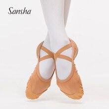 Sansha Volwassen Ballet Schoenen Stretch Ademend Mesh Bovenste Suède Zool Ballet Dans Slippers Voor Meisjes Vrouwen Meisjes Roze/Flesh NO.1 83