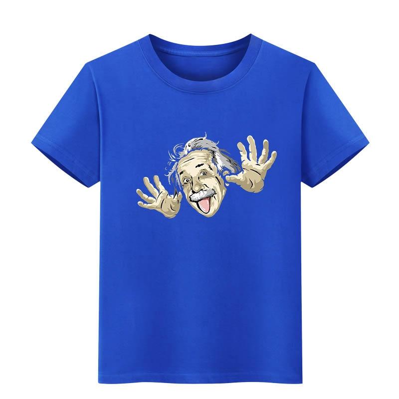 NiceMix Comical Albert Einstein T shirt Men 2019 Summer Funny Cotton Top tees Short sleeve The Big Bang Theory T-shirt