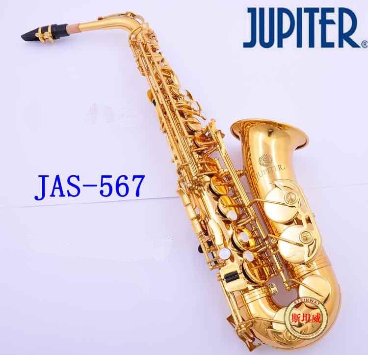 Instrument Nouveau Taiwan JUPITER JAS-567 Alto Eb Tune Saxophone Laque D'or Sax Avec Le Cas Embouchure Professionnelle Livraison Gratuite